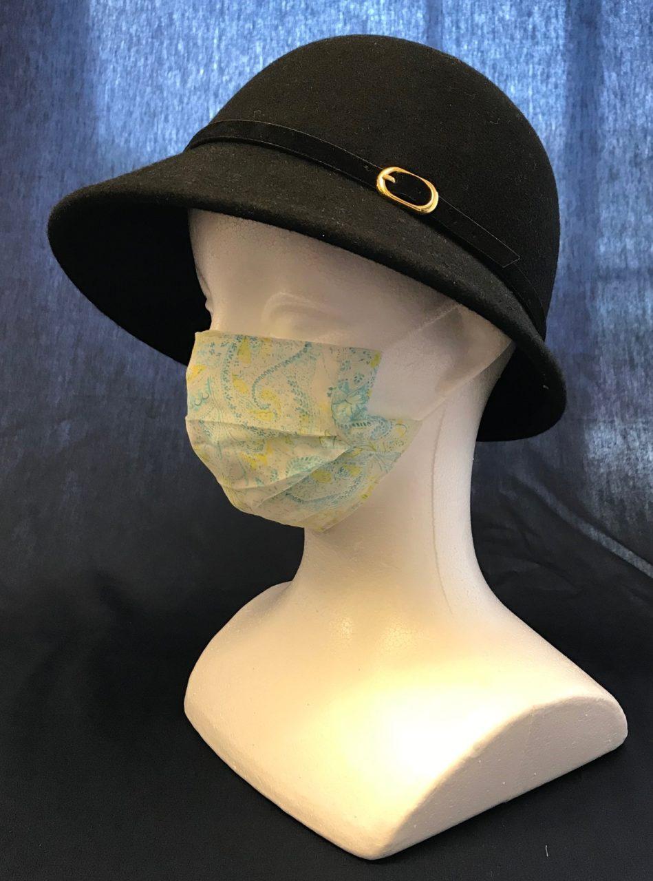 夏マスク 高級イタリア製生地使用 Masque d'été  en tissu italien de luxeの画像